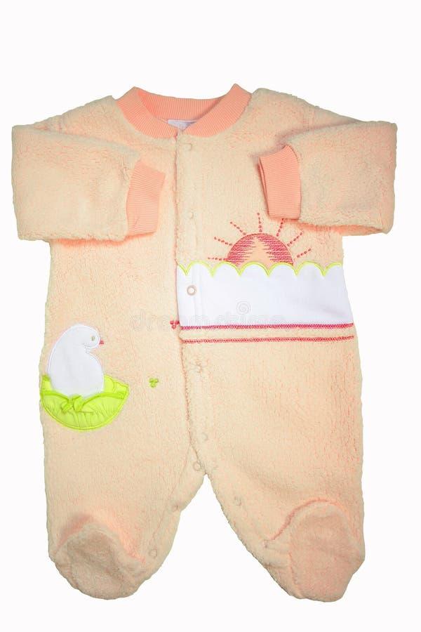 Romper do bebê sobre o branco foto de stock royalty free