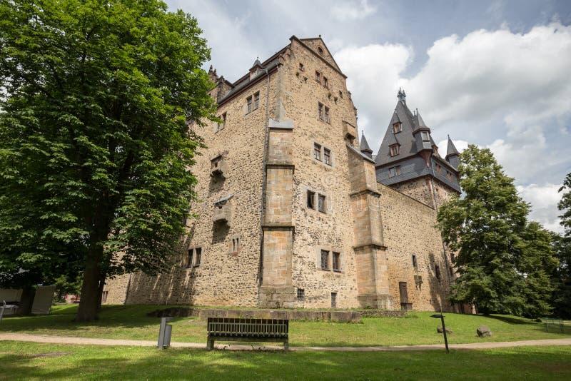 Romrod Assia Germania del castello fotografie stock libere da diritti