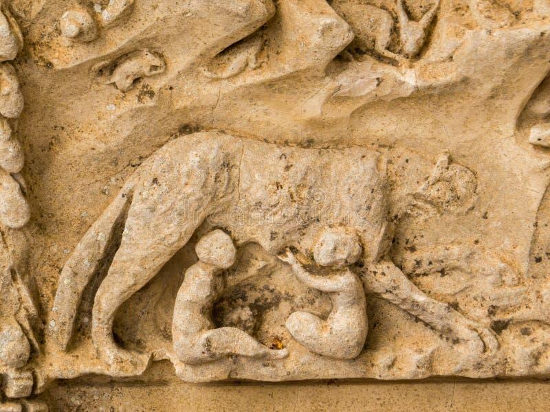 Romulus en Remus royalty-vrije stock afbeelding