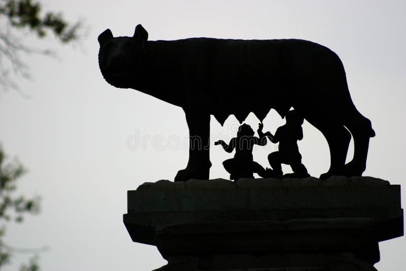 Romulus und Remus stockfotografie