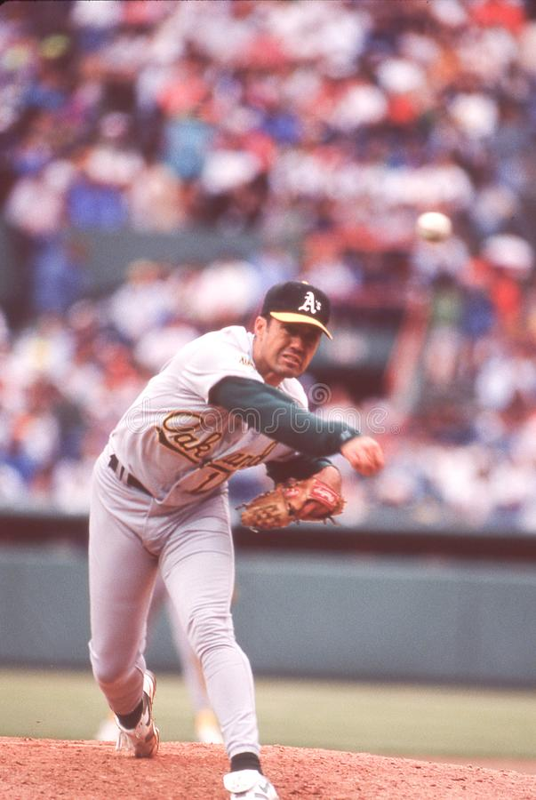 Ron Darling, lanceur d'Oakland Athletics photos libres de droits