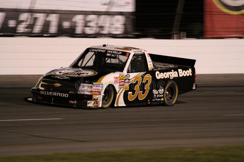 Ron Hornaday NASCAR Truck Series Exit 2 ORP Night Editorial Stock Image