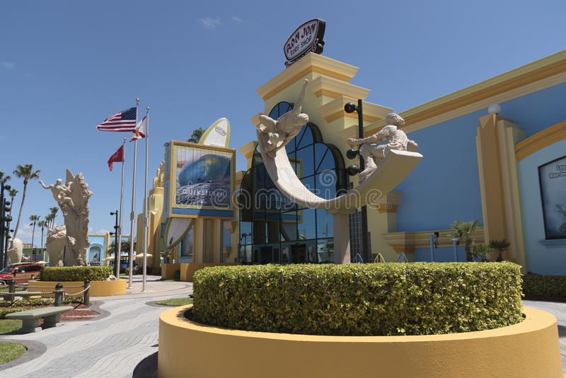 Ron Jon`s surf shop at Cocoa Beach Florida USA stock photos