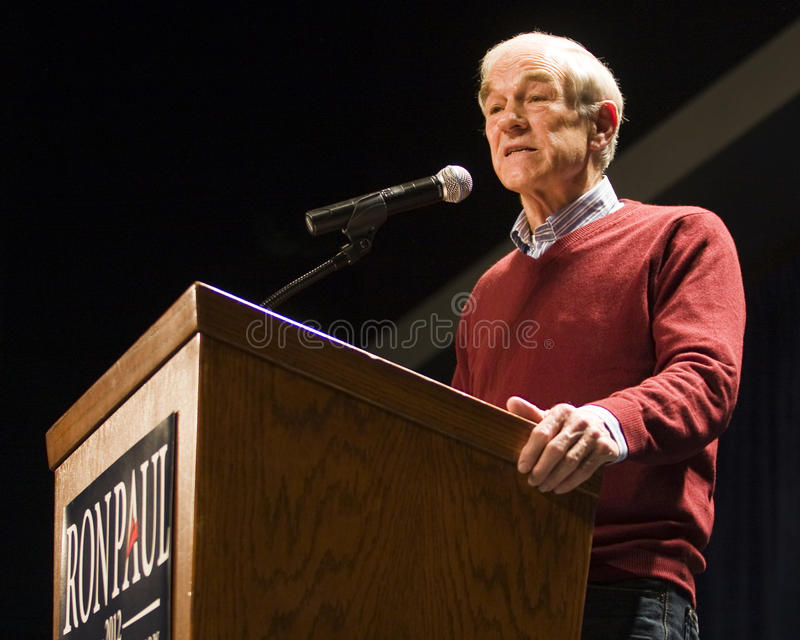 Ron Paul 2012 stock photography