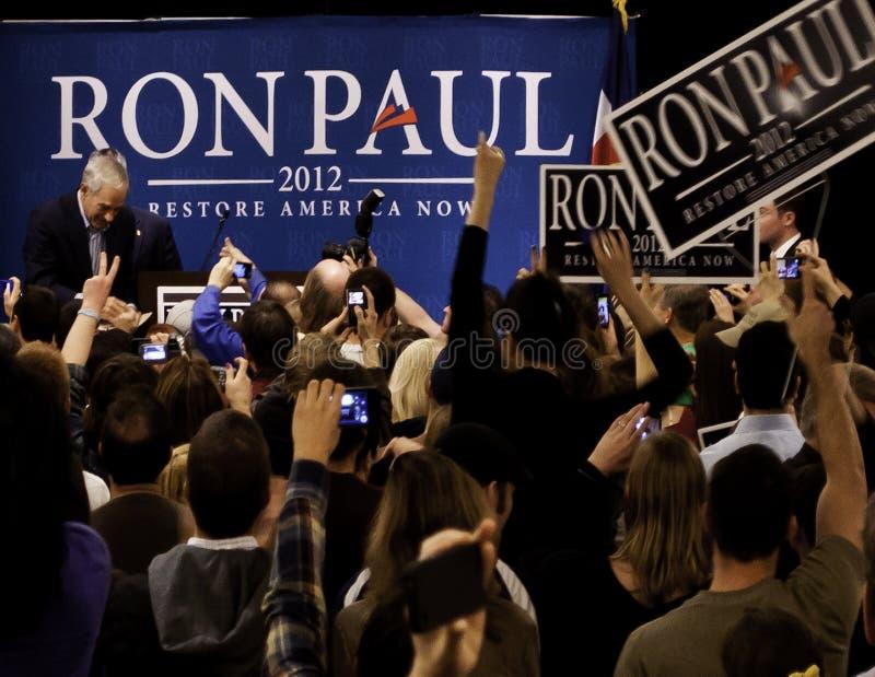 Ron Paul en Denver fotos de archivo