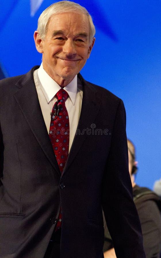 Ron Paul an republikanischer Präsidentendebatte 2012 stockfotos