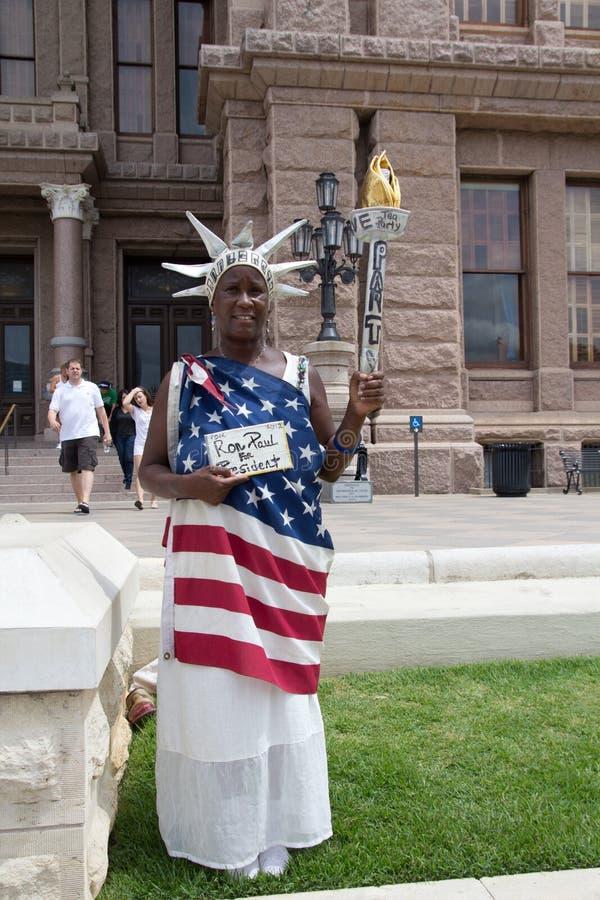 Ron Paul Supporter stock fotografie
