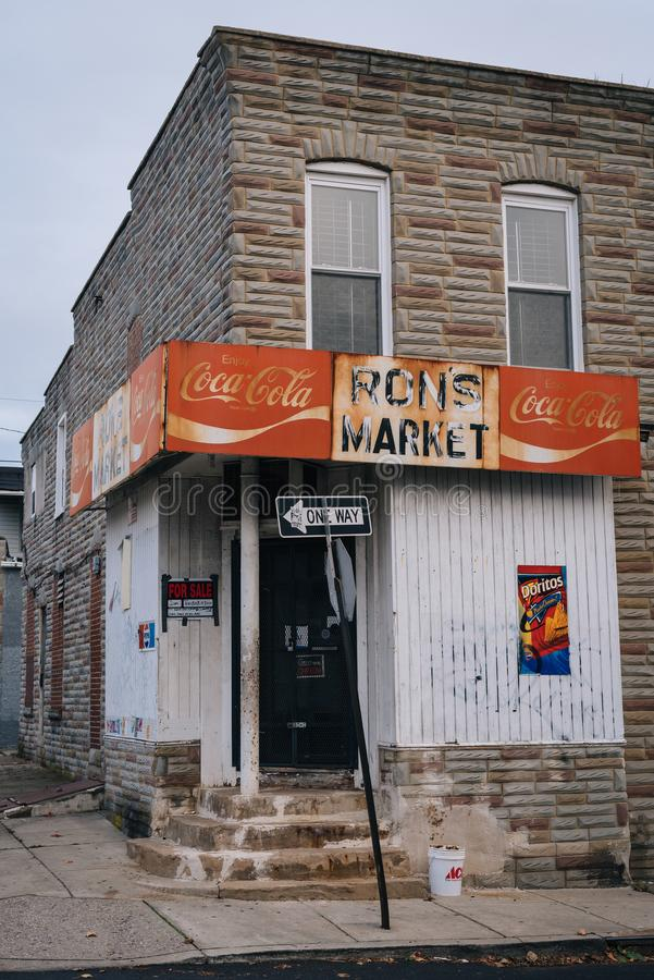 Ron rynek w Remington, Baltimore, Maryland obraz stock
