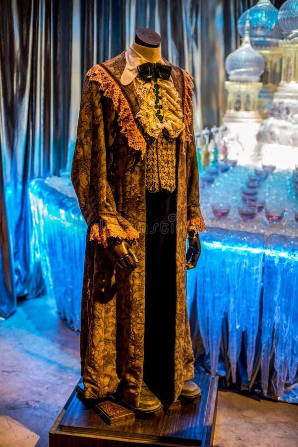 Ron Weasley Yule Balowy kontusz wystawiający przy Warner braci Harry Poter filmu Pracownianą wycieczką turysyczną zdjęcia stock