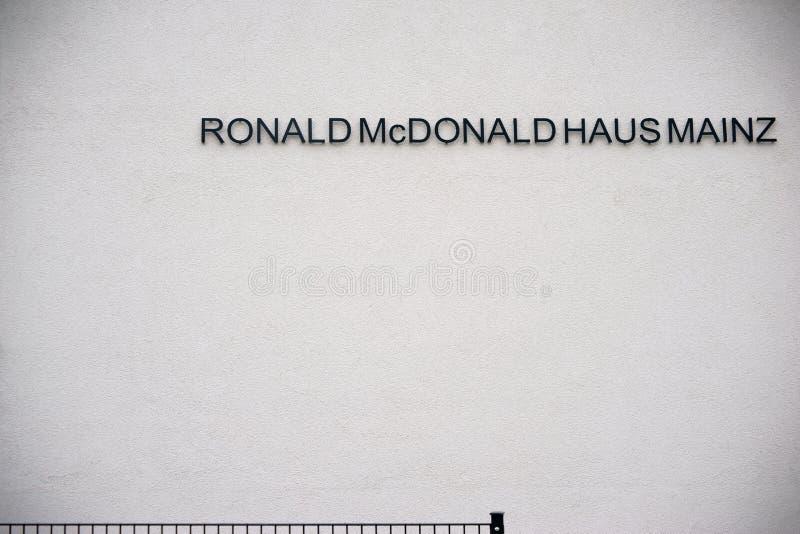 Ronald Mc Donald House Mainz imagen de archivo