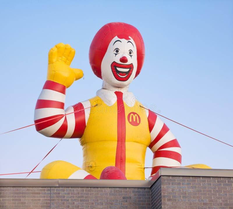 Ronald McDonald διογκώσιμο στοκ φωτογραφίες με δικαίωμα ελεύθερης χρήσης