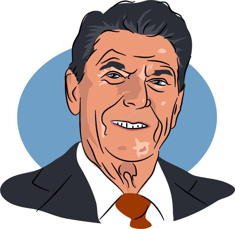 Ronald Reagan ilustración del vector