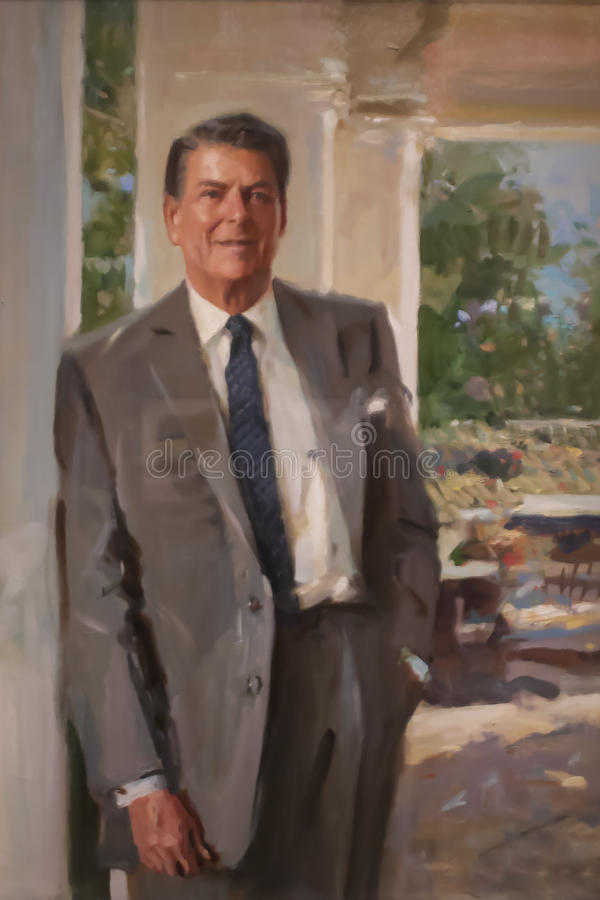 Ronald Reagan imagen de archivo libre de regalías