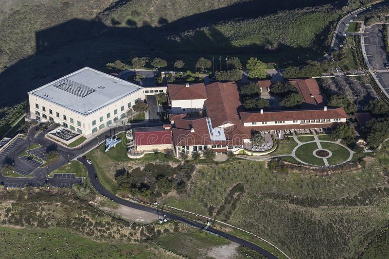 Ronald Reagan Presidential Library Aerial View royalty-vrije stock afbeelding