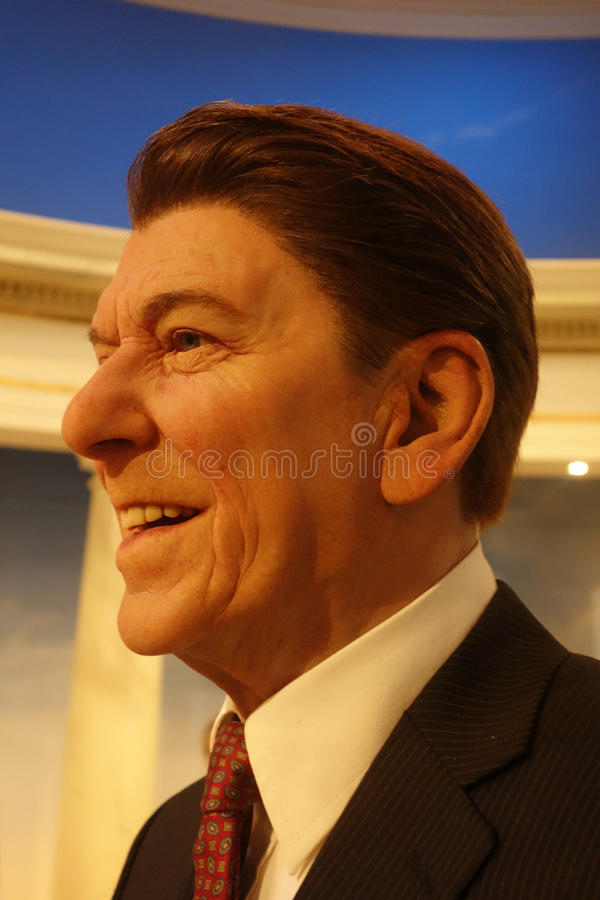 Ronald Reagan Wax Figure royalty-vrije stock foto