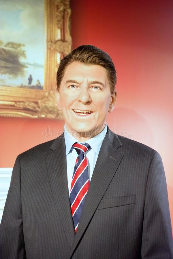 Ronald Reagan Wax Figure royalty-vrije stock foto's