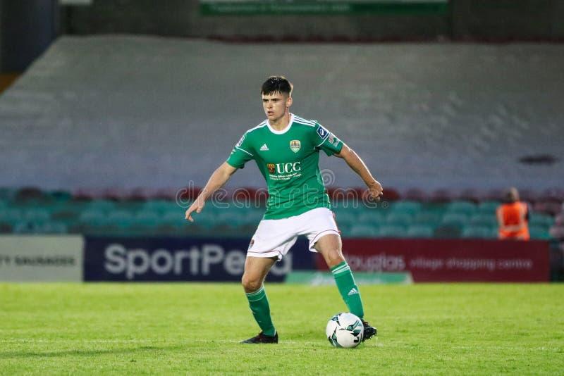 Ronan Hurley på ligan av Irland den första uppdelningsmatchen mellan Cork City FC vs St Patricks idrotts- FC royaltyfria foton