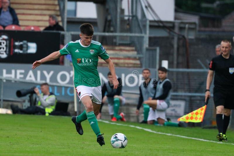 Ronan Hurley på ligan av Irland den första uppdelningsmatchen mellan Cork City FC vs St Patricks idrotts- FC arkivfoton