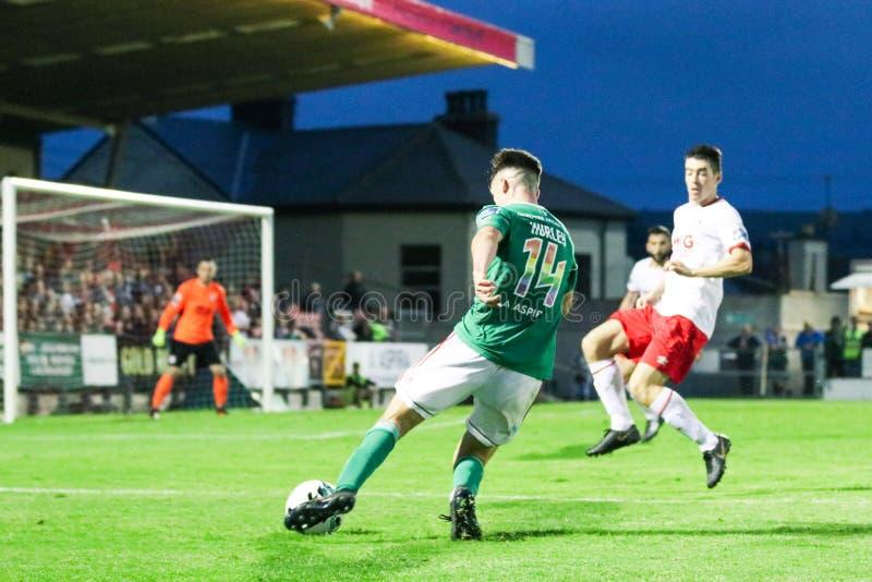 Ronan Hurley på ligan av Irland den första uppdelningsmatchen mellan Cork City FC vs St Patricks idrotts- FC arkivbild