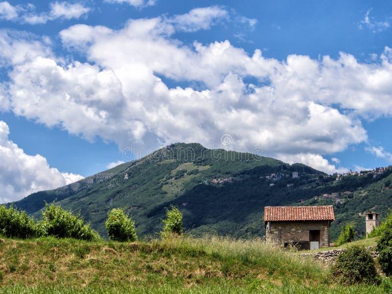 Roncola San Bernardo, Bergamo, Italy. View of Roncola San Bernardo, Bergamo, Italy. Beautiful sky stock images
