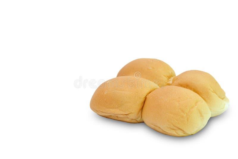 Rond brood op witte achtergrond royalty-vrije stock afbeelding