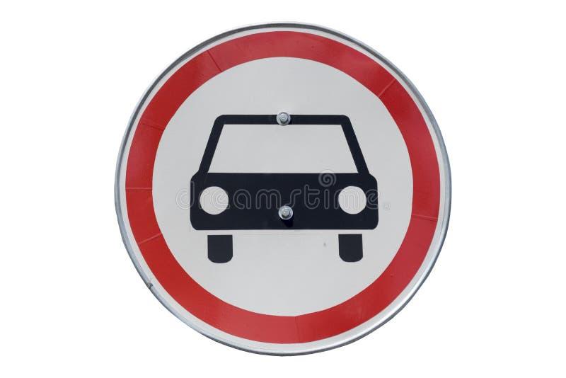 ` Rond de panneau routier aucun véhicules à moteur excepté le ` de motos d'isolement illustration stock