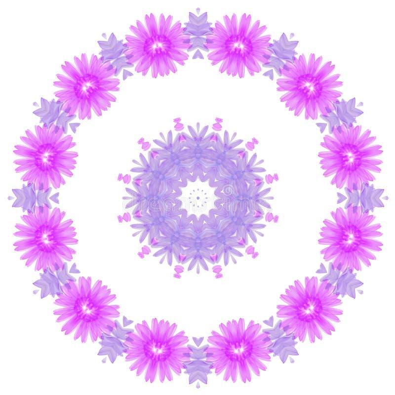 Rond des fleurs pourpres, élément de conception illustration de vecteur