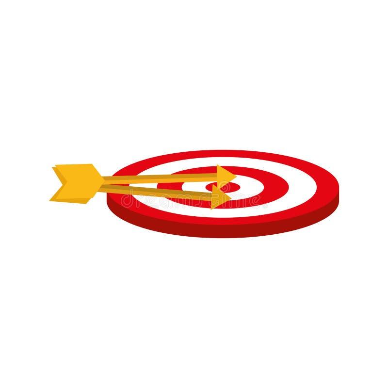 Rond doeldartboard stock illustratie
