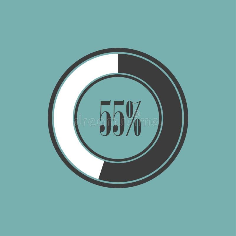 Rond element van infographics in cirkeldiagrammen Vector illustratie royalty-vrije illustratie