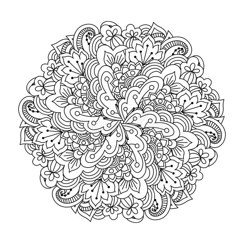 Rond element voor het kleuren van boek royalty-vrije illustratie