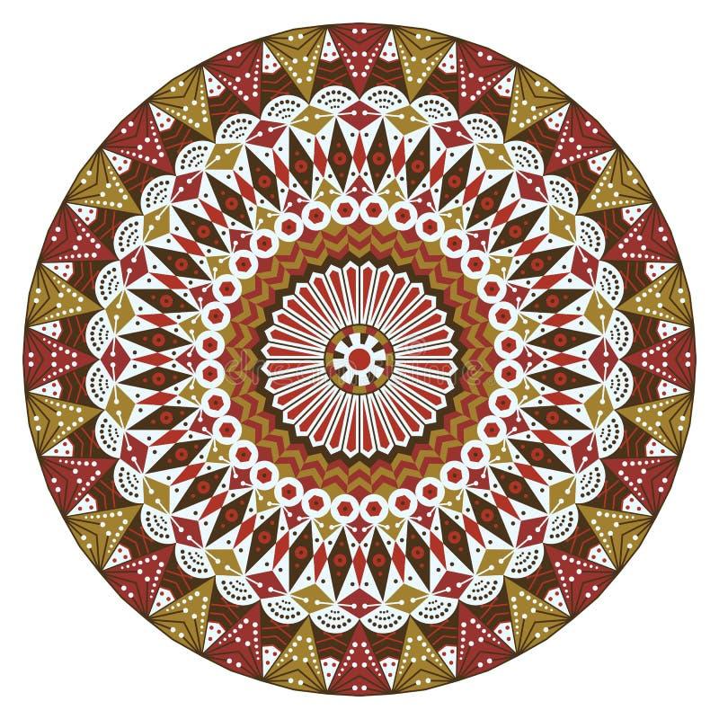Rond etnisch patroon vector illustratie