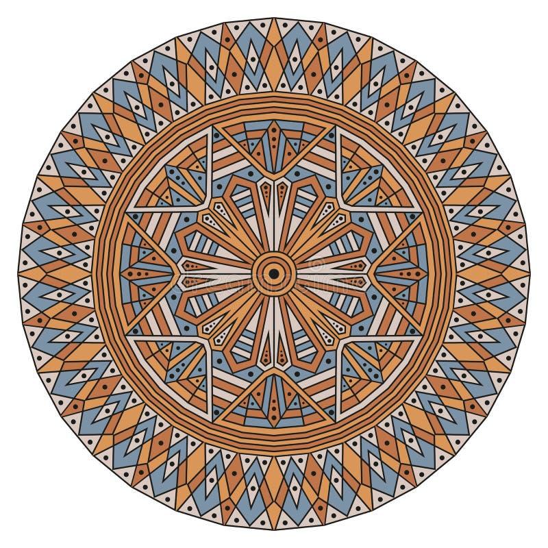 Rond etnisch patroon royalty-vrije illustratie