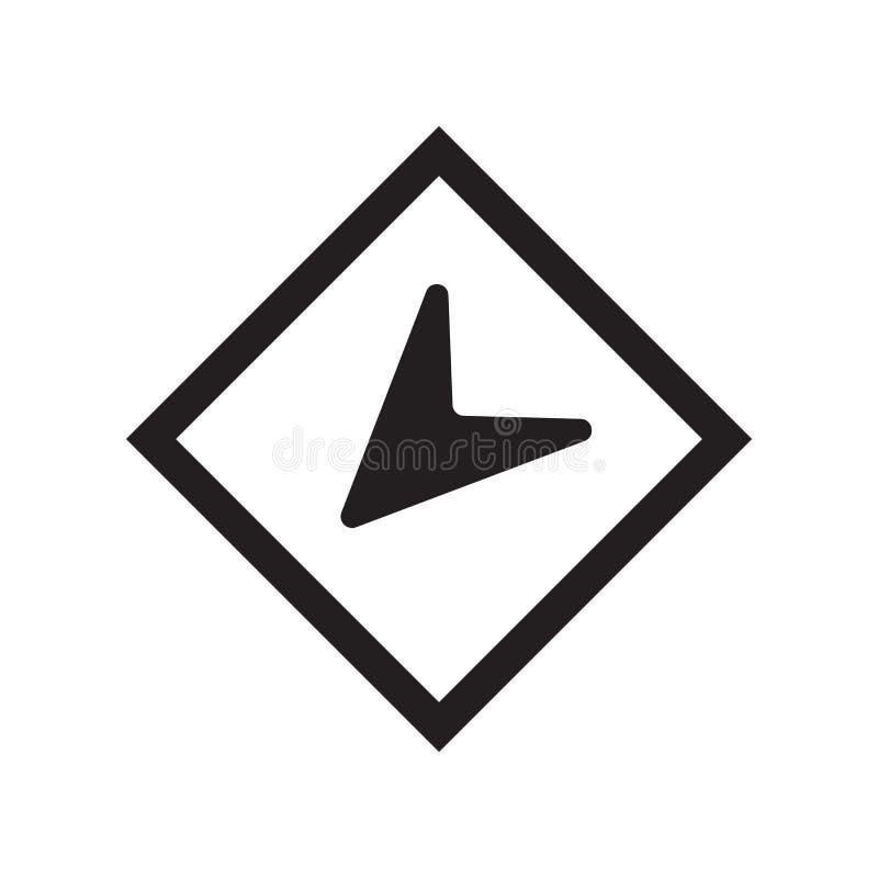 Rond geïsoleerd het pictogram vectorteken en symbool van de plaatsindicator royalty-vrije illustratie