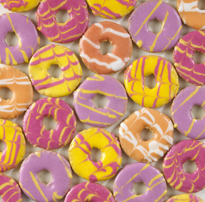 Rond gekleurde koekjes royalty-vrije stock fotografie