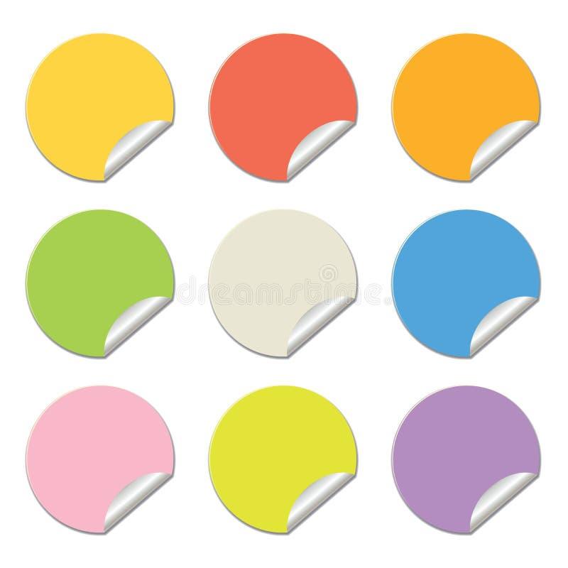 Rond gekleurde stickers royalty-vrije illustratie