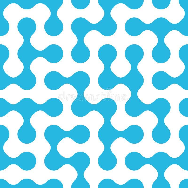 Rond gemaakt labyrint naadloos patroon stock illustratie