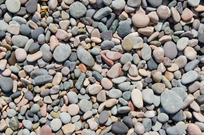 Rond gemaakte stenen op strand royalty-vrije stock foto