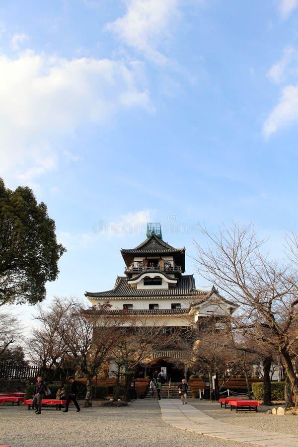 Rond Inuyama-Kasteel in Aichi-Prefectuur Gevestigd door Kiso R royalty-vrije stock foto's