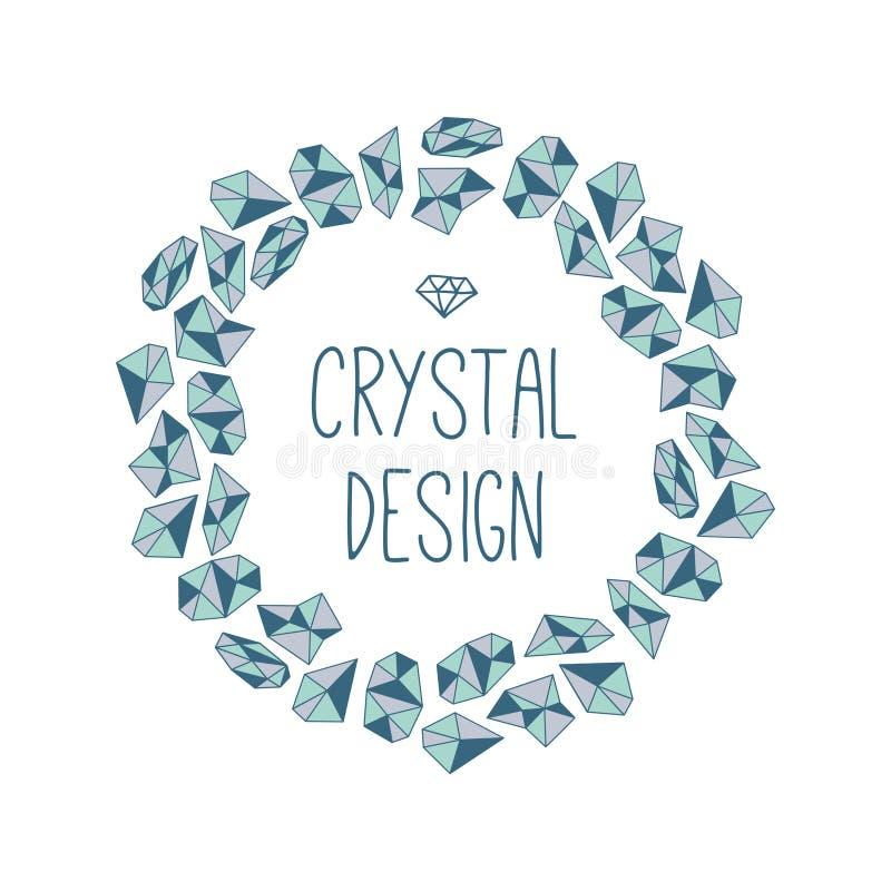 Rond kader van kristallen