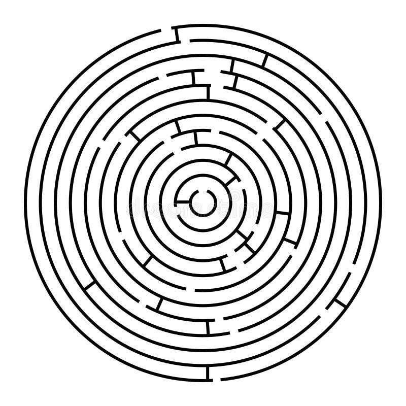 Rond labyrint royalty-vrije illustratie