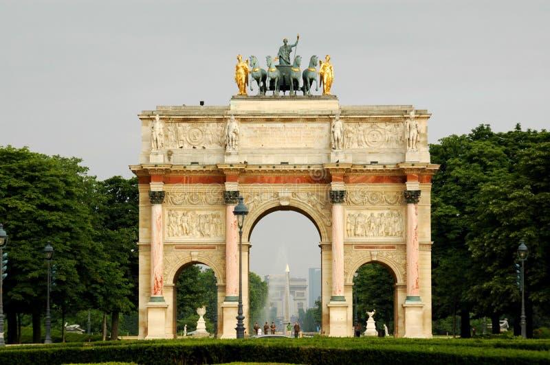 Rond Louvre Parijs stock afbeelding