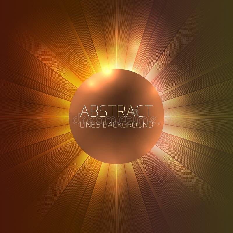 Rond malplaatje met abstracte cirkellijnen stock illustratie