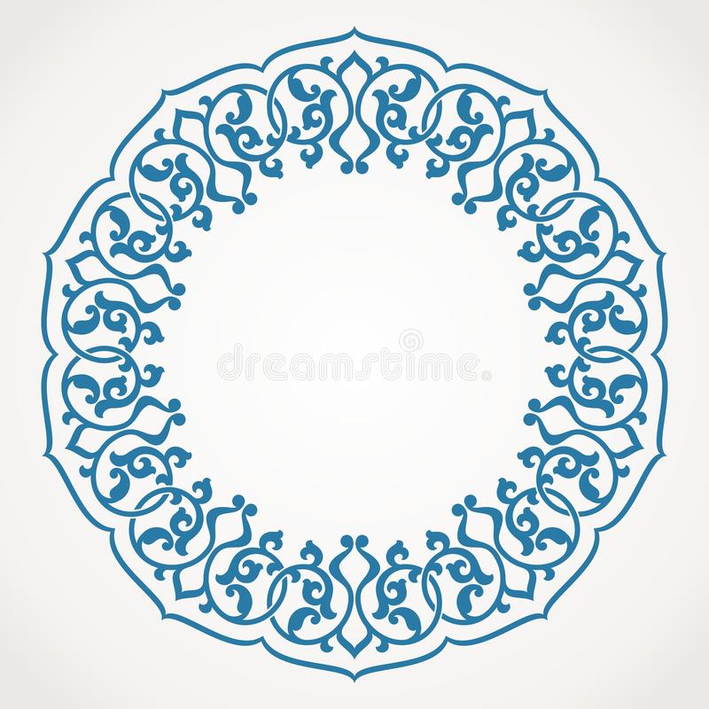 Rond Ornamentpatroon. vector illustratie