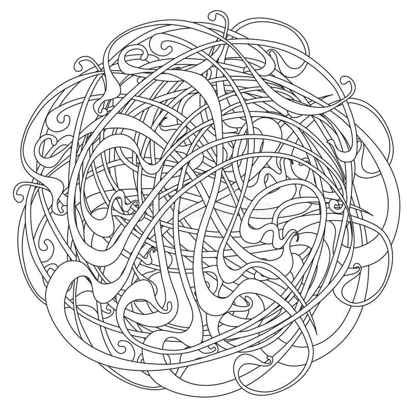 Rond patroon royalty-vrije illustratie