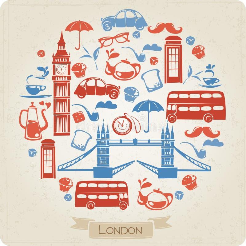 Rond patroon in Londen/Brits thema royalty-vrije illustratie