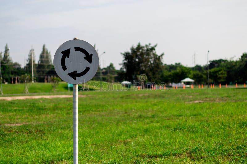Rond point de Signage photos libres de droits