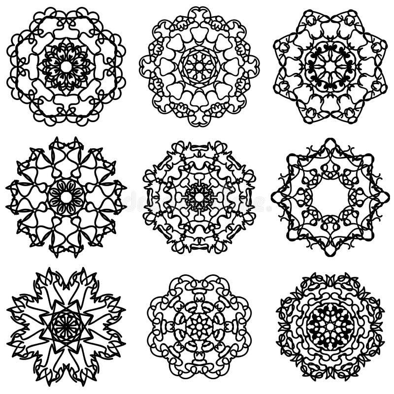 Rond sier geometrisch patroon royalty-vrije illustratie