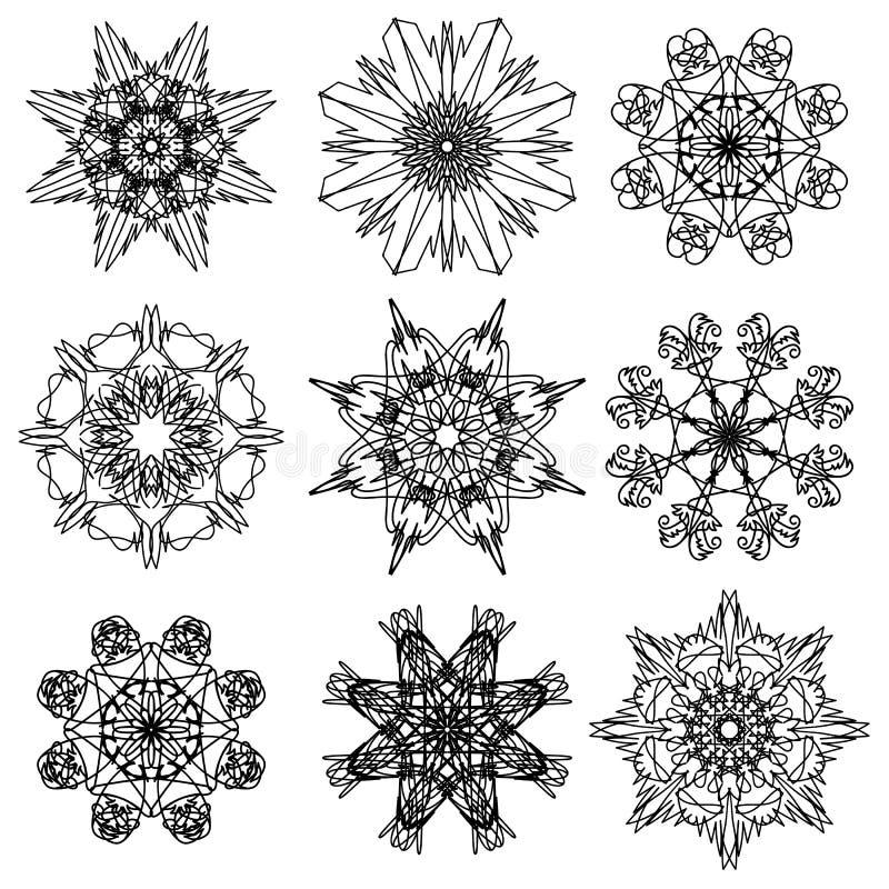 Rond sier geometrisch patroon stock illustratie