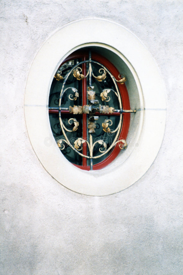 Rond venster stock afbeelding