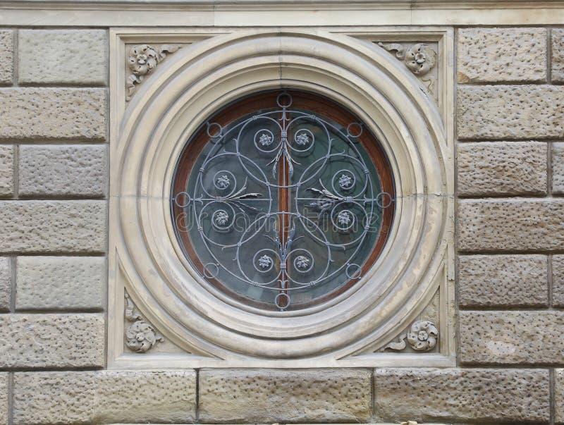 Rond versperd venster royalty-vrije stock afbeelding
